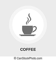 Cup of coffee flat icon - Cup of coffee icon vector Flat...
