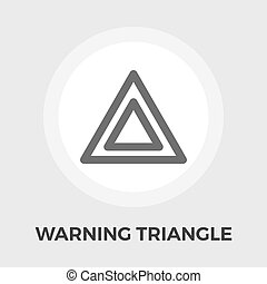 Warning triangle vector flat icon - Warning triangle icon...