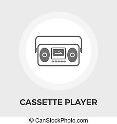 Boombox flat icon - Boom box icon vector Flat icon isolated...
