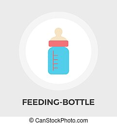 Feeding bottle vector flat icon - Feeding bottle icon...