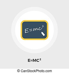 Physics flat icon - Physics icon vector. Flat icon isolated...