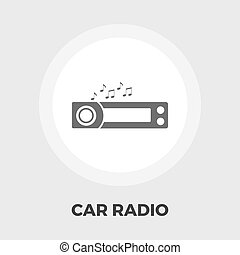 Car radio flat icon.