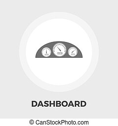Dashboard flat icon - Dashboard icon vector Flat icon...