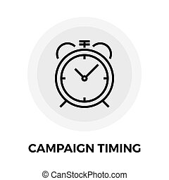 Campaign Timing Icon Vector Flat icon isolated on the white...