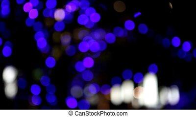 light - Bokeh moving in Christmas festival