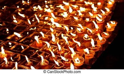 candle - Buddhist drop down candles flame for meditation at...