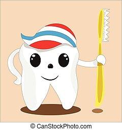 Dental tooth health treatment logo white clear