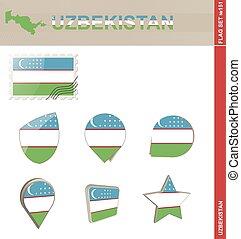 Uzbekistan Flag Set, Flag Set #151