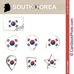 South Korea Flag Set, Flag Set #162