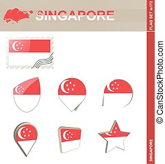 Singapore Flag Set, Flag Set #172