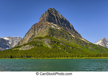 Clements Mountain and Hidden Lake, Glacier National Park,...