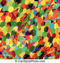 Abstract background with messy polygon shapes - Abstract...