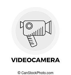 Videocamera Line Icon - Videocamera Icon Vector Flat icon...