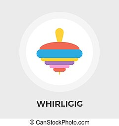 Whirligig vector flat icon - Whirligig icon vector Flat icon...