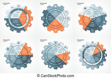 Vector business and industry gear style circle infographic...