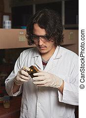 scienziato, problema, risolvere, uomo