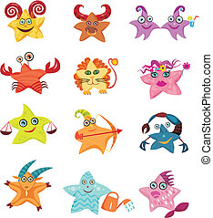zodiac - vector illustration of a zodiac set