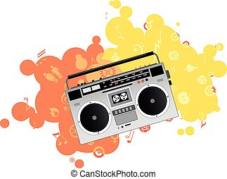 Boombox - Classic boombox, EPS 8 vector illustration, no...