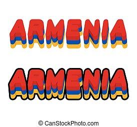 Armenia typography Text of Armenian flag Emblem of European...