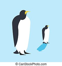 Penguin isolated. Arctic birds. Animal Antarctica Funa at the North Pole