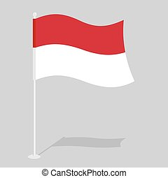 Monaco Flag Official national symbol of European states...