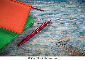 fechado, nota, LIVROS, biro, caneta, ligado, vindima,...