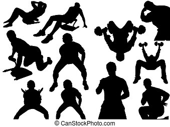 Home Fitness Silhouettes