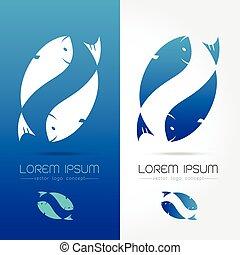 logotipo, peixe