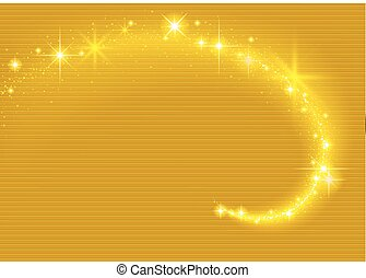Gold Sparkling Stream Effect - Gold Background with...