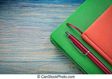 nota, LIVROS, biro, caneta, ligado, madeira, tábua,...