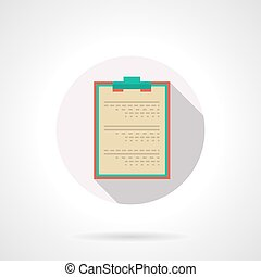 Medical clipboard flat color design vector icon - Board for...
