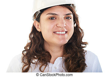 portrait of young engineer woman