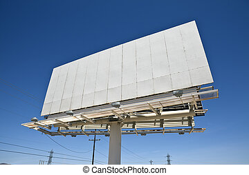 Mojave Billboard - Blank highway billboard in Californias...