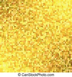 Golden irregular rectangle mosaic background - Golden color...