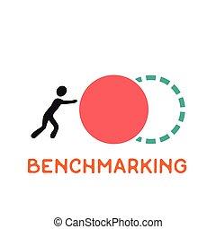 Benchmarking concept logo, vector icon about benchmark.