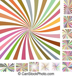 Colorful white spiral background set