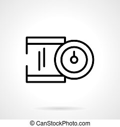 Precision device black line vector icon - Measuring device...