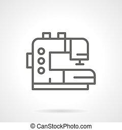 Tailor machine black line vector icon - Electric sewing...