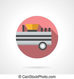 Farming fertilizer trailer flat color vector icon - Trailer...