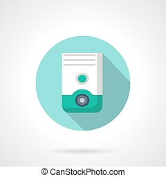 Air dehumidifier flat color design vector icon - White and...