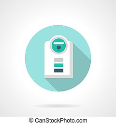 Modern humidifier flat color design vector icon - Humidifier...