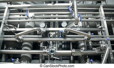 Pipes at a beer factory