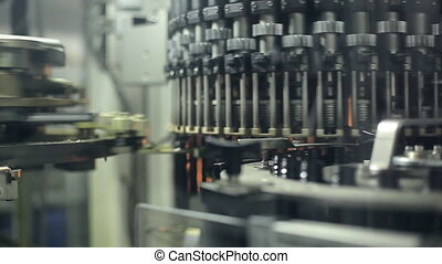 A machine for the production of plastic bottles - A huge...