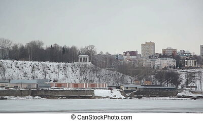 A typical Russian city in winter - Russia, Kirov. A typical...