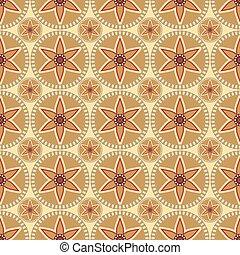 circular floral ornament seamless