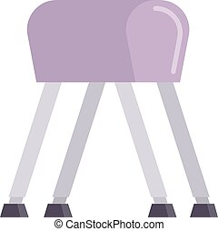 Pommel horse vector illustration. - Sports pommel in gym...