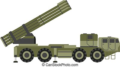 Military rocket launcher vector illustration Weapon army...