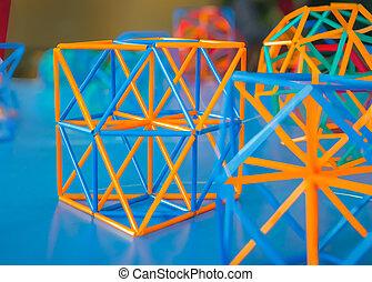 modelo, volumétrico, sólidos, geométrico