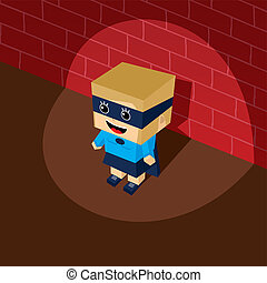 amazing female superhero isometric theme vector art...