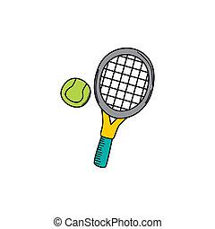 tennis cartoon icon theme vector art illustration
